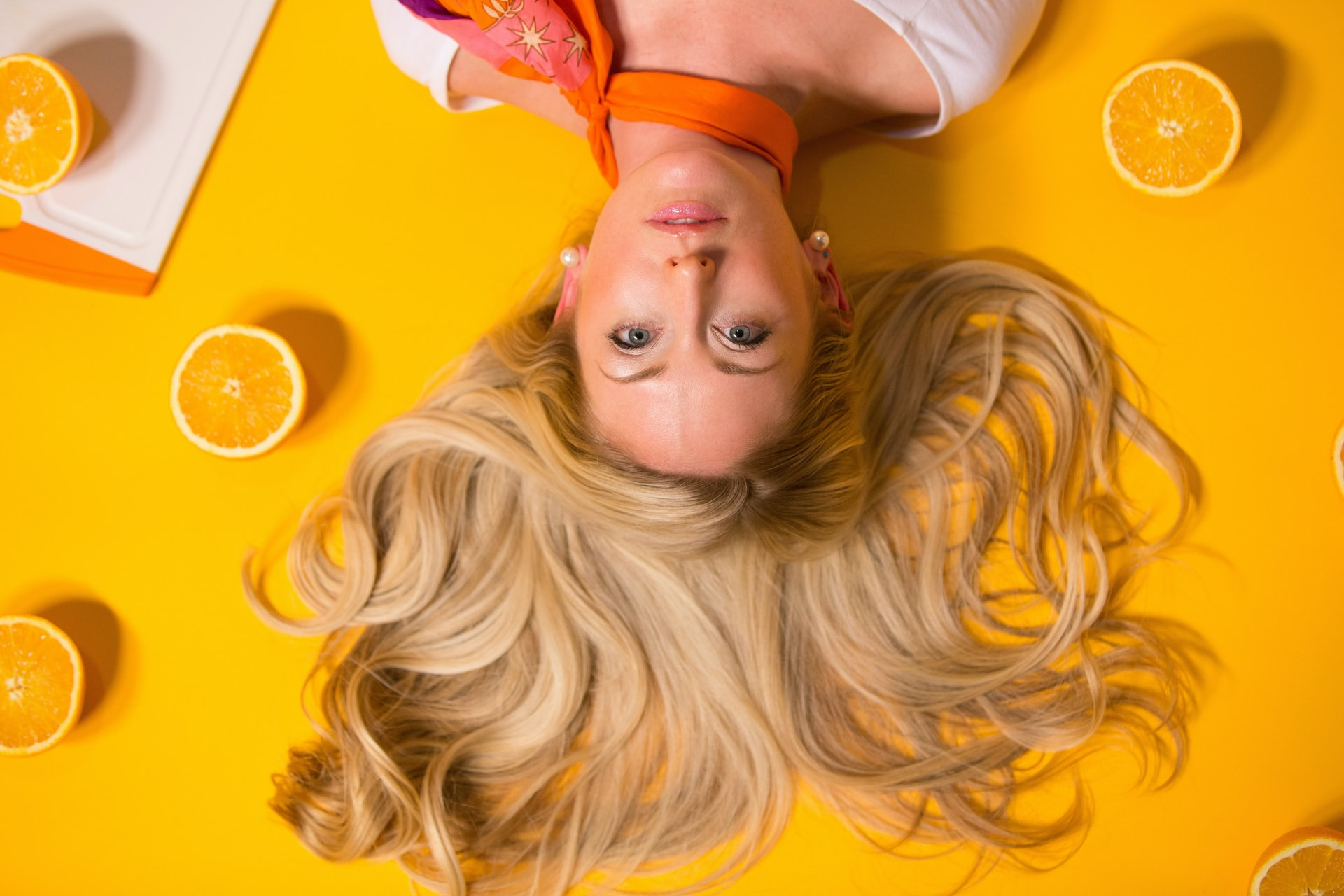 DIY hair conditioner & DIY oil for hair growth with orange